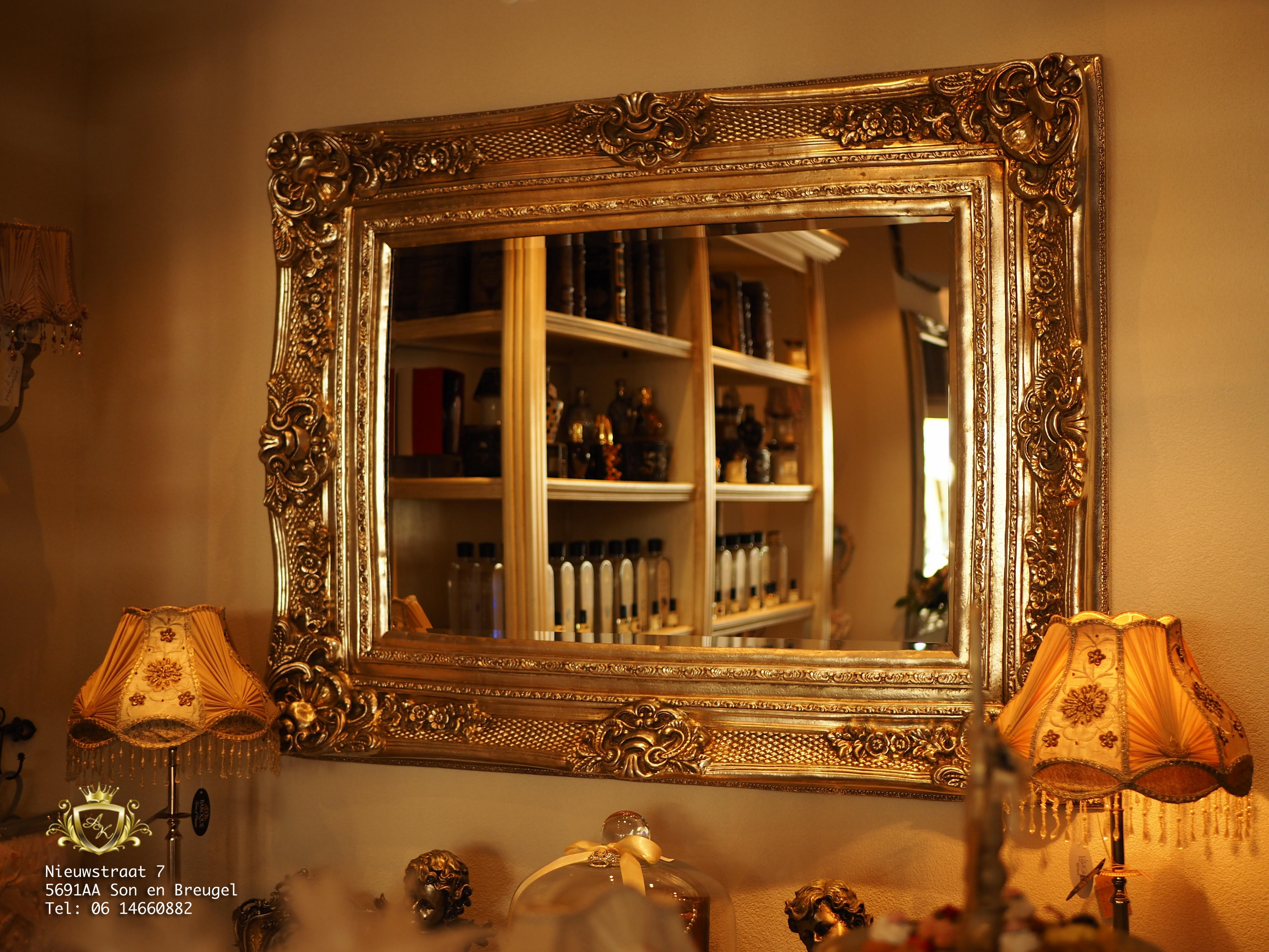 Gouden Barok Spiegel : Barok spiegel zilver angelas kroonjuweeltje