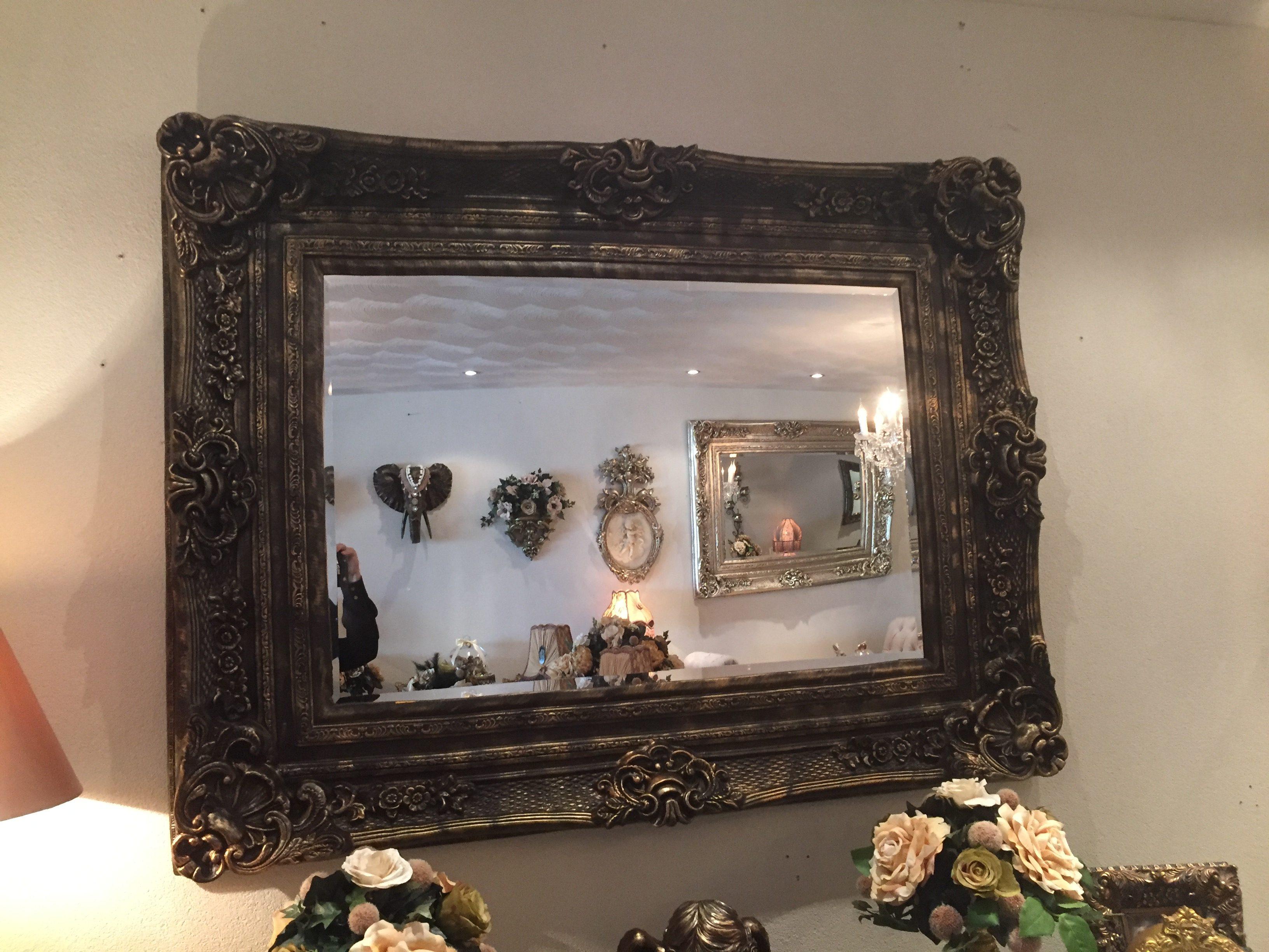 Vintage Spiegel Goud : Kuif spiegel roma goud of zilver lijst misschien wel de grootste