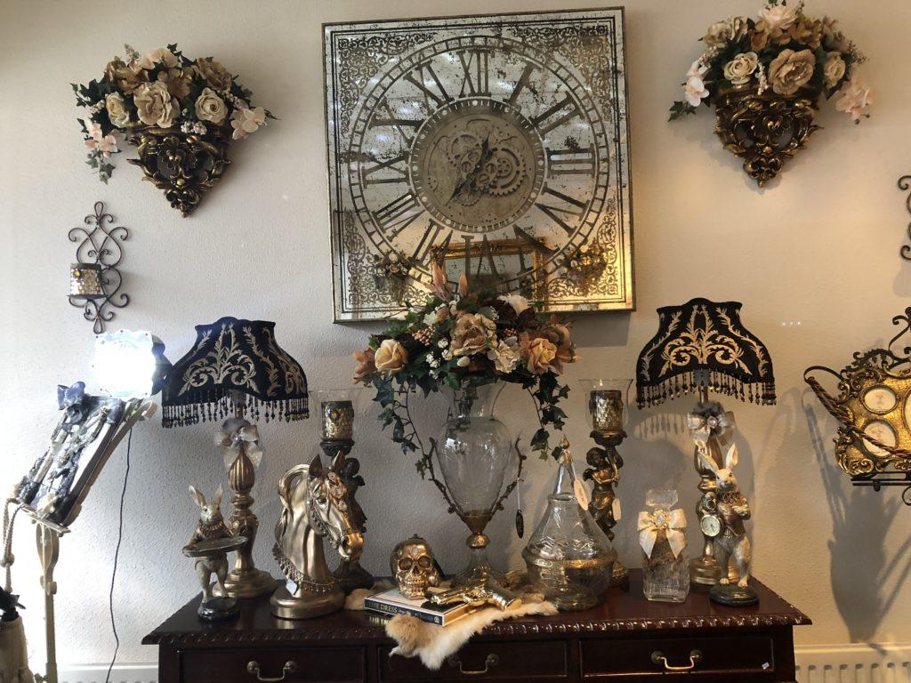 Spiegel Met Klok : Klok groot spiegel met roterend uurwerk angelas kroonjuweeltje