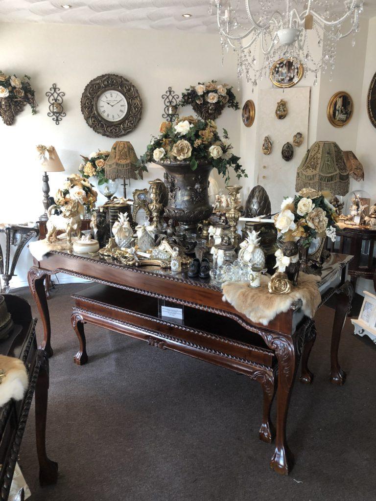 Wonderbaarlijk barok eettafel bruin leeuwenpoten   Angelas Kroonjuweeltje WN-63